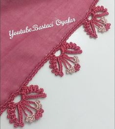Diy And Crafts, Arts And Crafts, Embroidery On Clothes, Craft Free, Baby Knitting Patterns, Crochet Lace, Crochet Lace Edging, Tela, Crochet Stitches