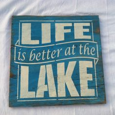 Life is better at the LAKE Lake House Hand by TheCountryNook