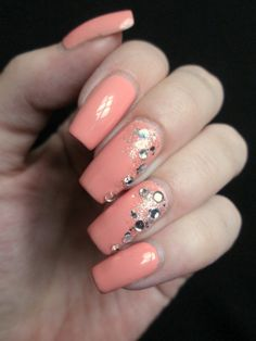 Peach and bling