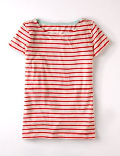 Short Sleeve Breton by Boden $34 (also cute in black and white or navy and white)