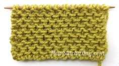 Example of the Loop Stitch: Right Side