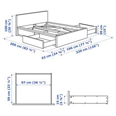 IKEA - MALM, High bed storage boxes, white, Ample storage space is hidden neatly under the bed in 2 large drawers. Perfect for storing quilts, pillows and bed linen. The storage boxes are easy to roll out and in thanks to the castors on the base. Storage Box On Wheels, Under Bed Storage, Storage Boxes, Storage Spaces, Extra Storage, Lp Storage, Record Storage, Storage Chest, High Bed Frame