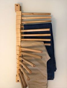Diy Wardrobe, Wardrobe Design, Wall Design, House Design, Pants Rack, Wooden Rack, Diy Inspiration, Closet Designs, Closet Bedroom