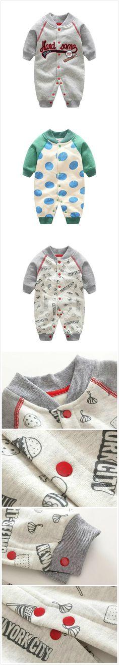 Baby Boy Romper Infant Toddler Jumpsuit For Autumn Σύνολα Για Παιδιά 51c4343663d