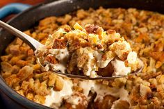 Next time you need to bring a casserole, make this one. It's chock-full of creamy, cheesy deliciousness and topped with ORE-IDA TATER TOTS.