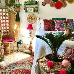 Boho Chic Interior, Bohemian Bedroom Design, Bohemian Room, Bohemian Bedding, Bohemian House, Bohemian Decor, Modern Bohemian, Bohemian Bedrooms, Interior Design