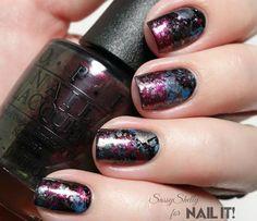 Nail Art, Nail Designs, Nail Tutorial, Galaxy Splatter Nails   NailIt! Magazine