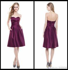 2015 Sweetheart A Line Bridesmaid Dresses Short Dress Bridesmaid Dress | Buy Wholesale On Line Direct from China