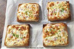 Penne im Topf: Flammkuchen - Toast