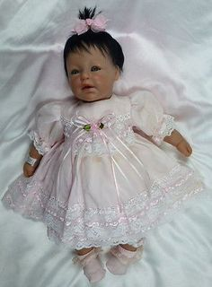 "Adorable 4pce 16""-18"" Pale Pink Dress Set"