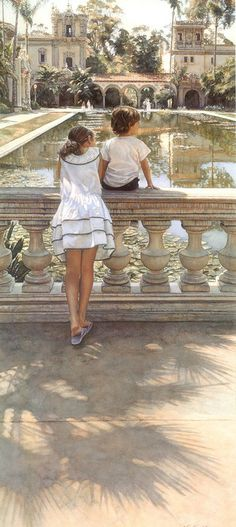 Steve Hanks, top 21C water color painter, born 1949 in CA, paints that tough medium with unprecedented realism detail...