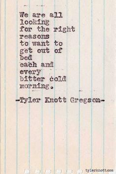 Tyler Knott Gregson Typewriter Series #319