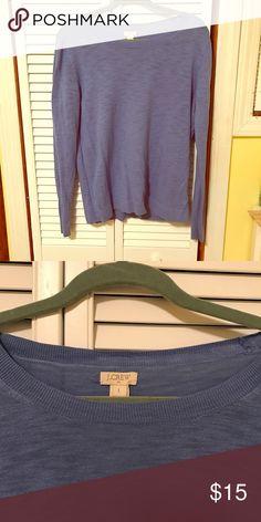 J Crew top Cotton, cornflower blue light knit sweater with crew neck J. Crew Sweaters Crew & Scoop Necks