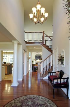A custom staircase by Norman L Graham, Inc.