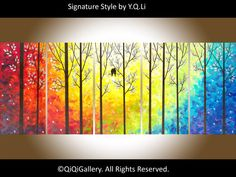 Original 60 Large Art Abstract Painting Landscape by QiQiGallery, $525.00