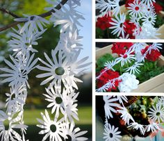 Garland Daisy chain DIY tissue decoration by PaperPolaroid