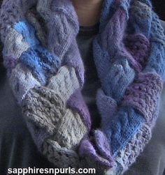 (6) Name: 'Knitting : Cables and Lace Entrelac Cowl