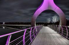 Solvesborg, un puente fulgurante en Suecia