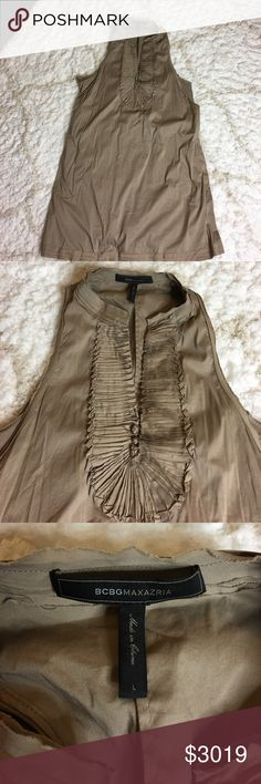 """Tan Dress Worn once, PERFECT CONDITION!!!! SUPER STRETCHY! Size L For more pics of this item check out my IG """"MISSLAURALEEJ"""" BCBGMaxAzria Dresses"""