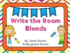 """Write the Room Blends – Freebie I created this quick Write the Room Blends for extra practice for my students. There are 2 different recording sheets. """"l"""" blends and """"r"""" blends. First Grade Phonics, Teaching First Grade, First Grade Reading, Teaching Reading, Kindergarten Freebies, Kindergarten Language Arts, Kindergarten Literacy, Literacy Centers, Writing Activities"""