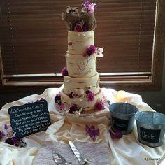 """Birch"" wedding cake!"