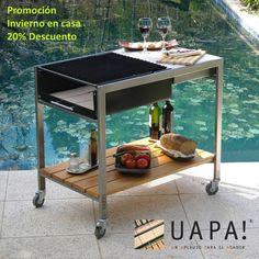 Parrilla Uapa! Mármol - Comprar en Cyan Diseño Barbecue Design, Grill Design, Barbecue Grill, Grilling, Metal Furniture, Furniture Design, Argentine Grill, Fire Pit Designs, Bbq Area