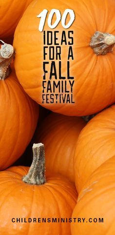 Pack your next carnival with these 100 ideas for a Fall Family Festival from children's ministry leaders–just like you.
