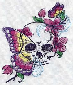 Painted Vanitas | Urban Threads: Unique and Awesome Embroidery Designs
