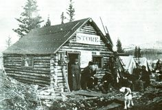 one of the first buildings in barkerville Vintage Photographs, Vintage Photos, Famous Outlaws, Alaska Highway, Pioneer Day, Canadian Pacific Railway, Dust Bowl, Home On The Range, American Frontier