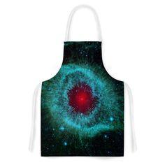 "Suzanne Carter ""Helix Nebula"" Black Celestial Artistic Apron"