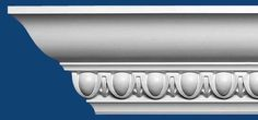 egg and dart molding | T302 Egg and Dart Crown Molding (4 in x 8 ft)