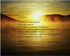 God's love=resoration