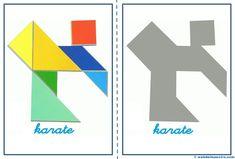 Tangram | Figuras para imprimir online Panel Quilts, Pattern Blocks, Karate, Diagram, Shapes, Logos, Monica Brant, Michelle Lewin, Ronda Rousey