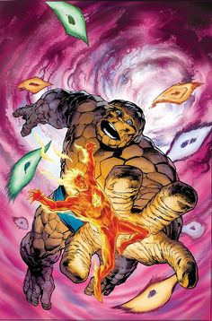 PIPOCA COM BACON - Thing & Human Torch by Alan Davis - #PipocaComBacon