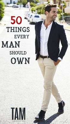 Check out our MEGA LIST of 50 THINGS EVERY MAN SHOULD OWN. Includes must have fashion, style, grooming, and lifestyle items for every guy.