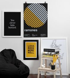 Inspiration for retail stores pop-up shops and show booths. The Design Chaser. Pop Up. Fashion Graphic Design, Graphic Design Posters, Ramones, Diy Design, Print Design, Interior Design, Online Art Store, Nz Art, Yellow Interior