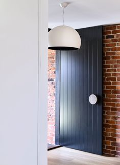 California - design home with recycled brick in the exterior and stylish bright interior - CAANdesign House Design, Modern Front Door, House Front Door, Decorative Screen Doors, Brick Exterior House, Recycled Brick, Entrance Doors, Front Door Handles, Front Entry Doors