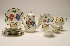Image detail for -Proxibid, Inc. Image 1 Blue Ridge Pottery Children s Tea Set, Hard to ...
