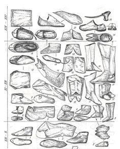 Timeline of Medieval Russian footware.  (NOTE - the site where I got this has great descriptions and definitions!)