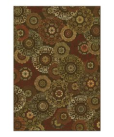Look what I found on #zulily! Mocha Suzani Rug by KAS Rugs #zulilyfinds