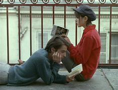 Jean-Pierre Leaud and Juliet Berto reading books Jean Pierre Leaud, Living In London, Photographie Portrait Inspiration, Jean Luc Godard, The Love Club, Romance, Poses References, French Films, Film Stills