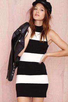 Set Stripe Dress | Shop Mod at Nasty Gal