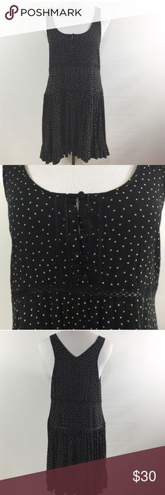 Anthropologie Eloise slip dress Reposhing after getting a promotion and building a new wardrobe! In amazing condition- tiered, peekaboo lace, stars like polka dots, slip dress with buttons at the décolletage. Anthropologie Dresses Mini