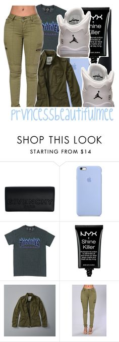 """""""casual - doja cat ."""" by prvncessbeautifulmee on Polyvore featuring Givenchy, NYX, Abercrombie & Fitch and Retrò"""