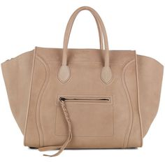 CELINE PHANTOM TAUPE LUGGAGE BAG ❤ liked on Polyvore featuring bags, handbags, purses, bolsas, celine, hand bags, celine purse, purse bag, beige handbags and celine bag