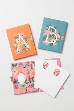 I would like 10 packs of these Rifle monogram notecards in each letter, thank you. #Trendspirationillustration