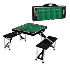 Picnic Time 811-00-175-765-0 US Military Academy Army Knights Digital Print Picnic Sport Table in Black