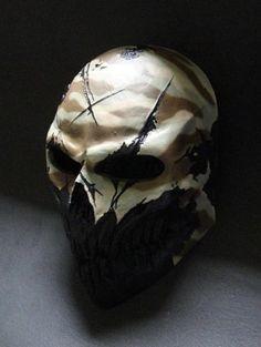 Desert Camo by ColdBloodArt Cool Tactical Gear, Tactical Wear, Army Of Two, Doomsday Survival, Mascaras Halloween, Armagh, Helmet Paint, Combat Gear, Desert Camo