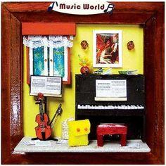Dollhouse Miniature DIY Kits Music World