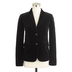 Petite schoolboy blazer in velvet - i have wanted this for two falls now so I think I deserve to pull the trigger